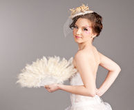 Creative Bride with a Fan Royalty Free Stock Photography