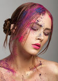 Creative bright makeup Royalty Free Stock Photography