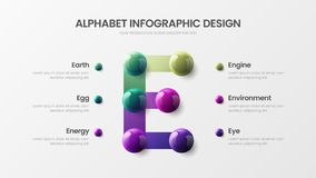 Free Creative Bright Multicolor Character Design Illustration Layout. Modern Art E Symbol Graphics Visualization Template. Royalty Free Stock Photography - 127806507