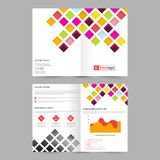 Business Brochure with colorful squares. Stock Images