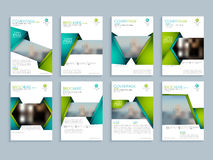 Creative brochure design set. Creative brochure design with space to add images, Corporate template layout with front, inner and back pages presentation Royalty Free Stock Photos