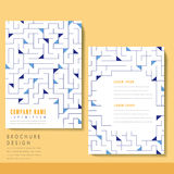 Creative brochure template design royalty free illustration