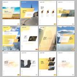 Creative brochure templates with colorful gradient geometric background. Yellow coloreddesign. Covers design templates. Creative brochure templates with colorful royalty free illustration