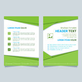 Creative brochure vector template. Modern poster, flyer business template in a material design style. Stock Photo