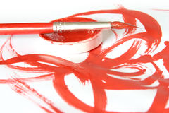 Creative - brush & color. Studio Photo Creative - brush & color Stock Image
