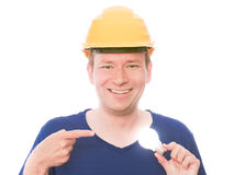 Creative builder stock photos