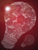 Creative bulb. With typographic elements Stock Photography