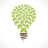 Creative bulb design with leaf butterfly design Royalty Free Stock Photo