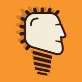 Creative bulb face design. Stock Royalty Free Stock Photos