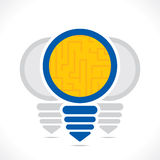 Creative bulb find the way design the bulb concept.  Royalty Free Stock Photography