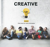 Creative Bulb Ideas Development Thinking Concept Stock Image