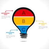 Creative bulb info-graphics design stock illustration