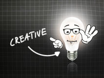 Creative Bulb Lamp Energy Light blackboard Stock Image