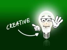 Creative Bulb Lamp Energy Light green Royalty Free Stock Photo