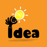 Creative bulb light idea,flat design.Concept of ideas inspiratio Royalty Free Stock Photo