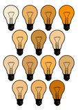 Creative bulbs Stock Image
