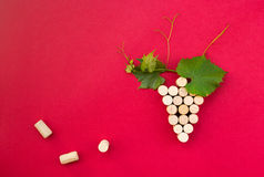 Creative bunch of grapes made of cork Stock Images