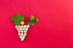 Creative bunch of grapes made of cork Stock Photo