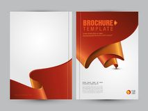 Creative Business Brochure Flyer Cover Design Layout. A4 Size Business Brochure Flyer Cover Design Layout Template Vector Illustration - A4 Brochure Cover Royalty Free Illustration