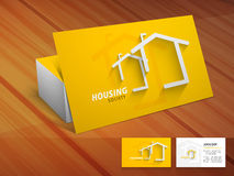 Creative business card for housing society. Royalty Free Stock Photo