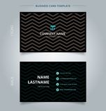 Creative business card and name card template, chevron pattern o royalty free illustration