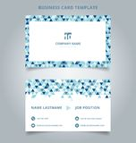 Creative business card and name card template blue color modern. With Triangle pattern abstract concept and commercial design. vector graphic illustration royalty free illustration