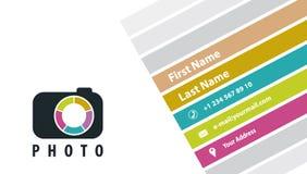 Creative business card photographer Stock Photography