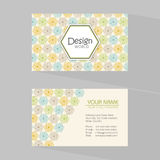 Creative business card set. Royalty Free Stock Image