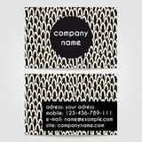 Creative business card template Stock Image