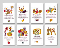 Creative business cards and banners Stock Photography