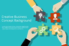 Creative business concept background Royalty Free Stock Photos