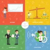 Creative business concept banner Stock Photos