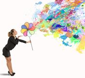 Creative business. Concept of creative business with color effect Stock Photo