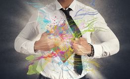 Creative business. Concept of Creative business with colorful effect Royalty Free Stock Image