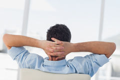 Creative business employee relaxing Stock Image