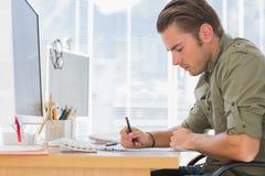 Creative business employee working Royalty Free Stock Image