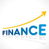 Creative business finance growth graph design concept.  Royalty Free Stock Photos