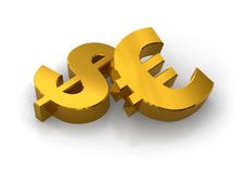 Dollar or Euro? Stock Photo
