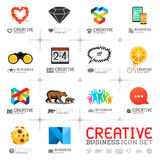 Creative Business Icons Stock Photography