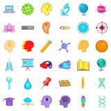 Creative business icons set, cartoon style Royalty Free Stock Image