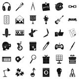 Creative business icons set, simple style Stock Image