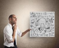 Creative business idea royalty free stock images