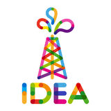 Creative business Idea, innovation and solution, oil rig. Vector illustration Stock Photography
