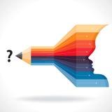 Creative business idea pencil with arrow Stock Photo
