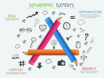 Creative business infographic elements. Royalty Free Stock Photography