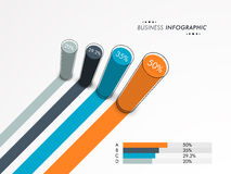 Creative business infographic layout with statistics. Stock Photos