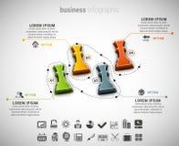 Creative Business Infographic. Vector illustration of business infographic made of chessman Royalty Free Stock Photos