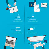 Creative business office workspace Infographic. Royalty Free Stock Images
