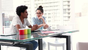 Creative business partners having a meeting stock footage
