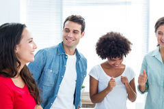 Creative business people in discussion Royalty Free Stock Photo